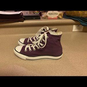 PreOwned Converse Purple Hi Top Women's 8